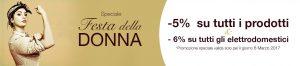 Festa della Donna: L'8 marzo sconto del 5% su tutti i prodotti