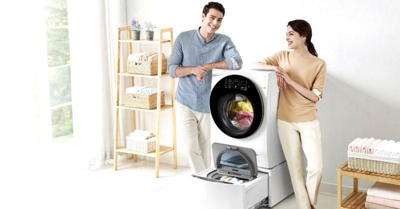 lavatrice doppio cestello