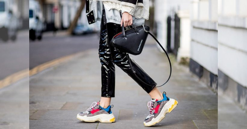 Chunky sneakers: scarpe alla moda stile Balenciaga