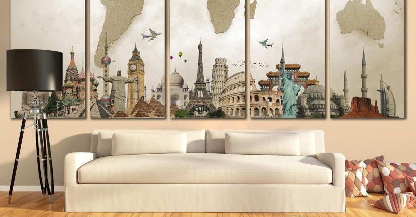 stampe da parete dove comprare quadri su tela vetro e legno