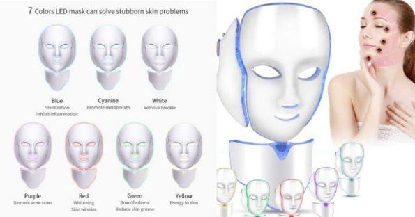 maschera led viso fotobiostimolazione