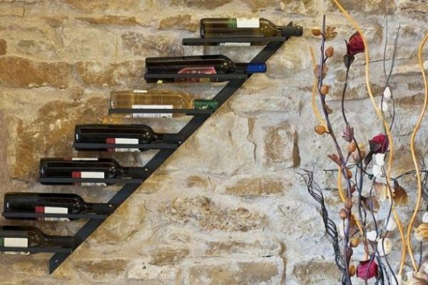 porta vino da parete