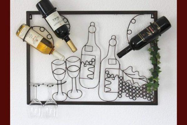 porta vino da parete di design