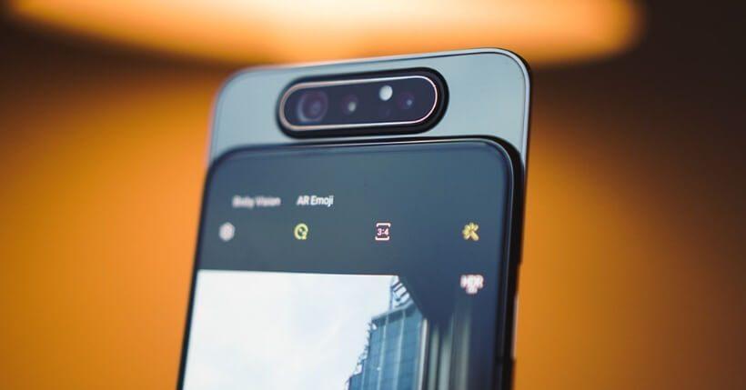 Samsung A80: Uscita e prezzo dello smartphone con fotocamera rotante