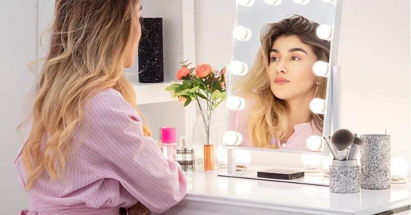 specchio trucco illuminato